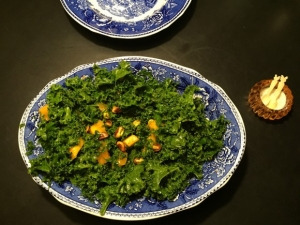 Grønkål og Kakisalat